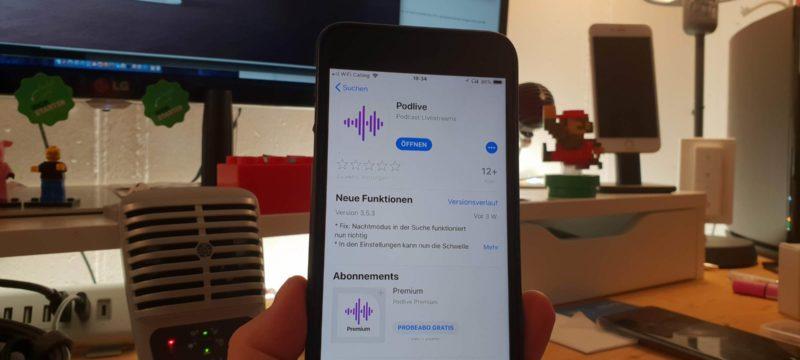 Podcasts Live hören mit Podlive
