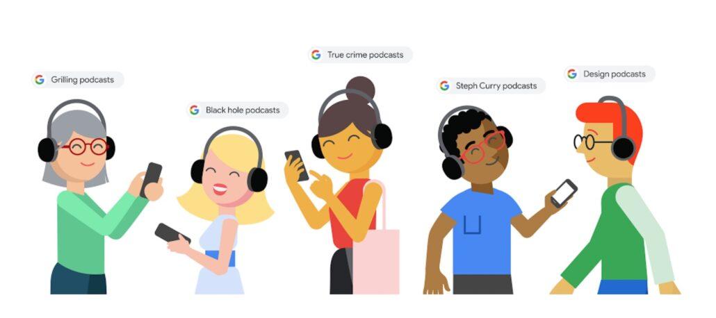 Google Suche Podcasts