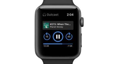 Podcasts an der Uhr anhören