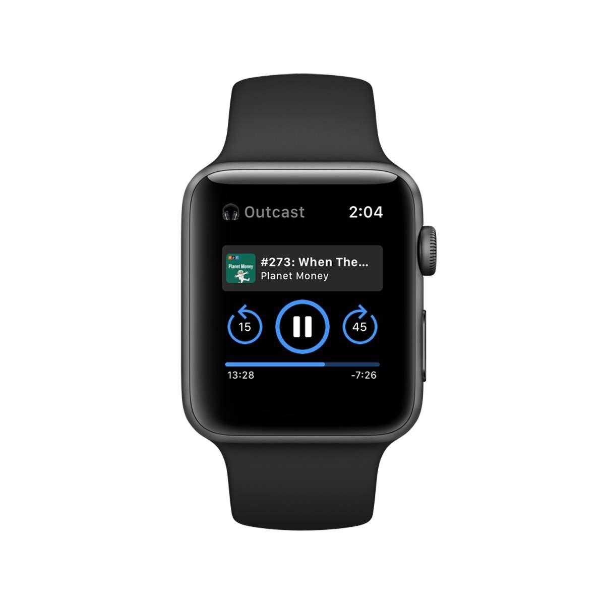 Outcast – Podcasts hören auf der Apple Watch
