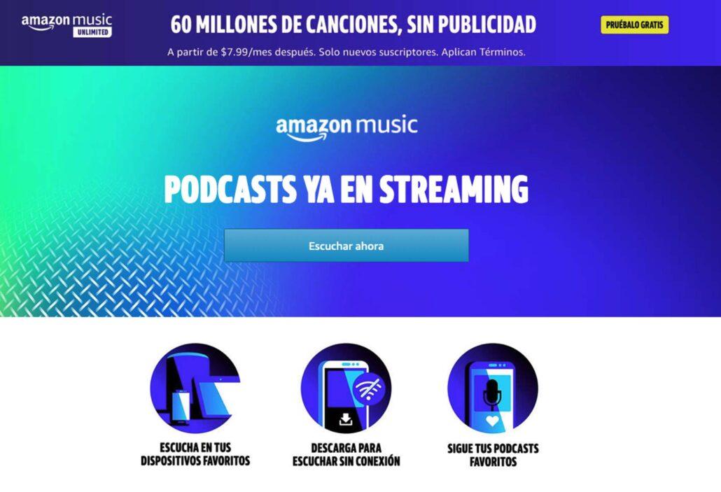 Amazaon Music startet Podcasts