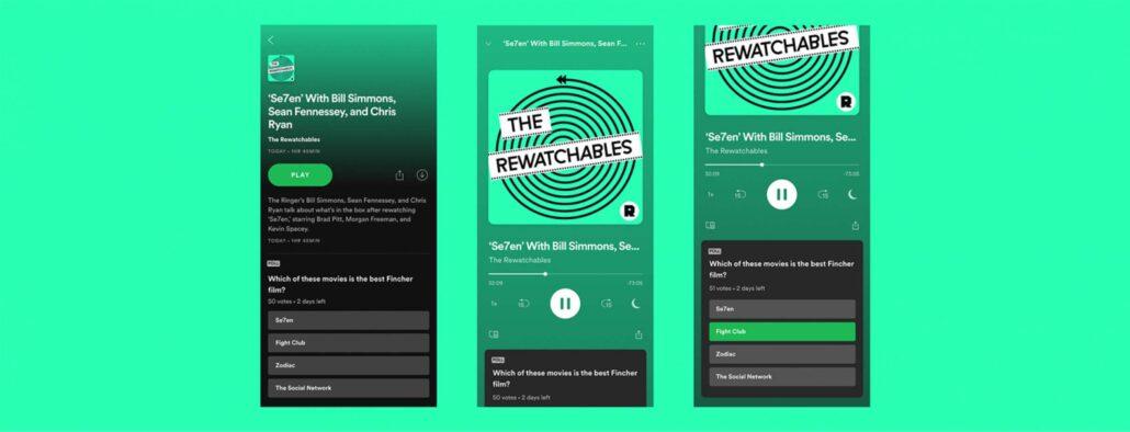 Umfragen im Podcast - Spotify bindet Podcast-Formate noch mehr an sich