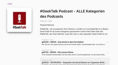 Apple Podcast einbinden