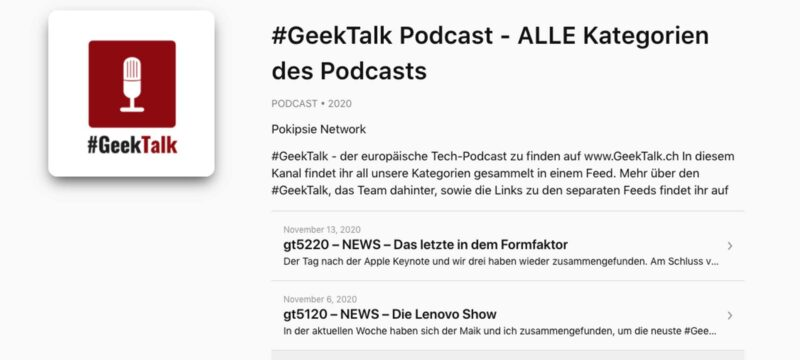 Apple Podcast einbinden
