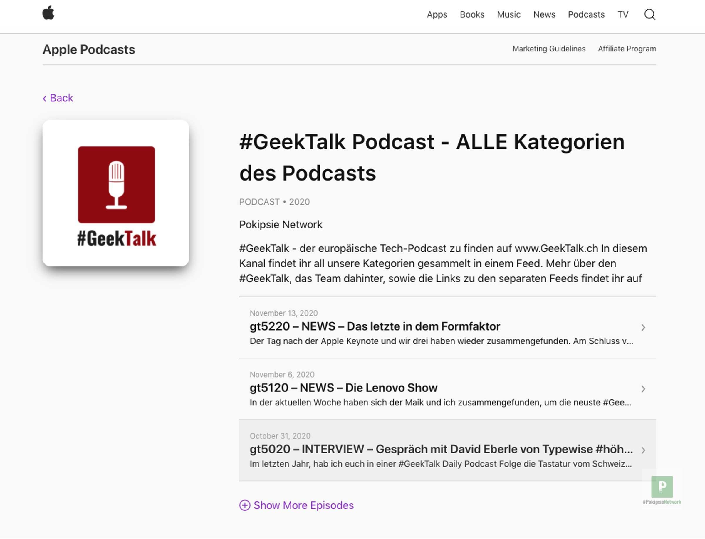 Apple Podcast einbinden auf der eigenen Webseite