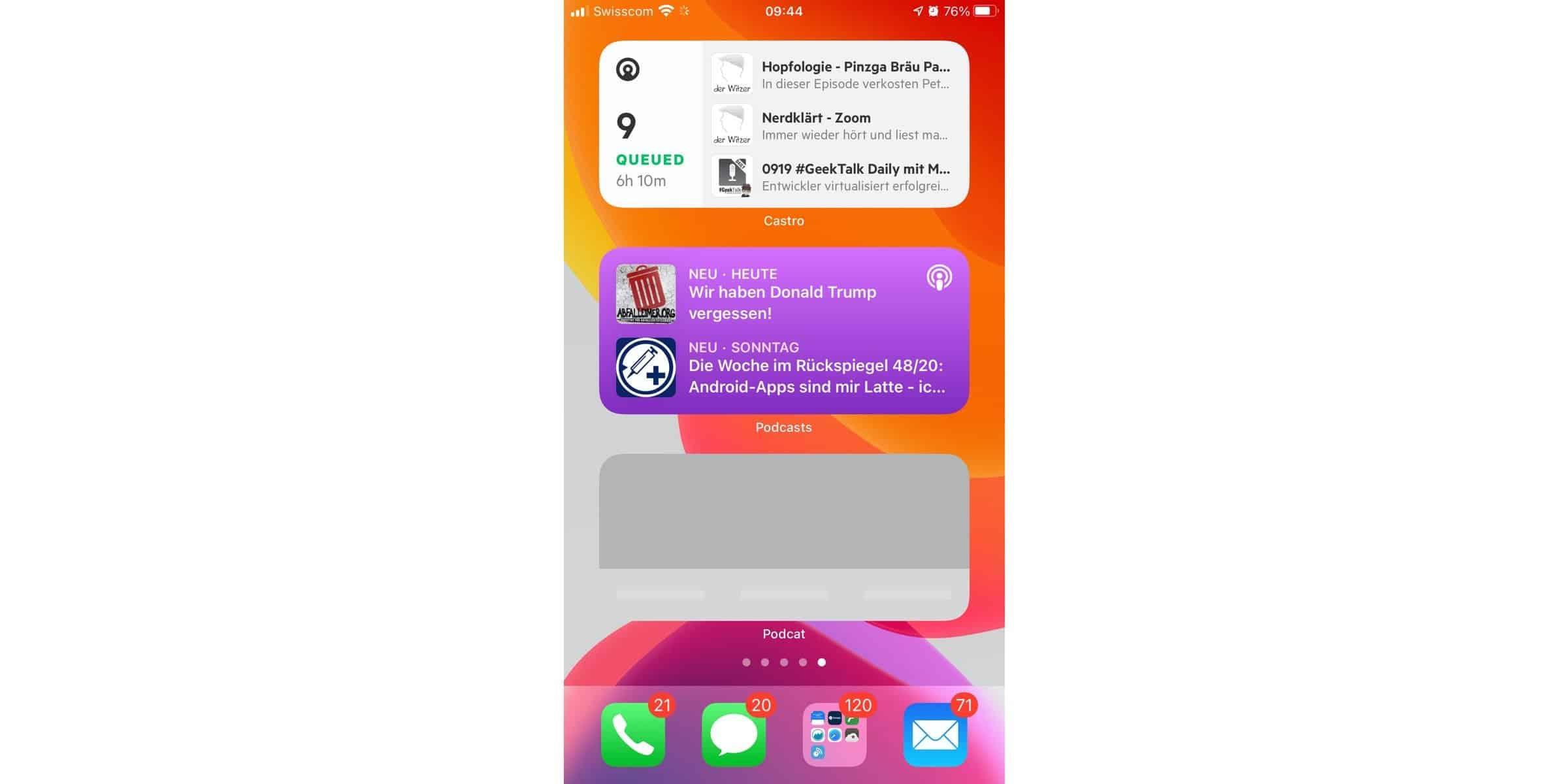 Podcatcher Widgets – Diese Podcatcher bieten euch iOS 14 Widgets
