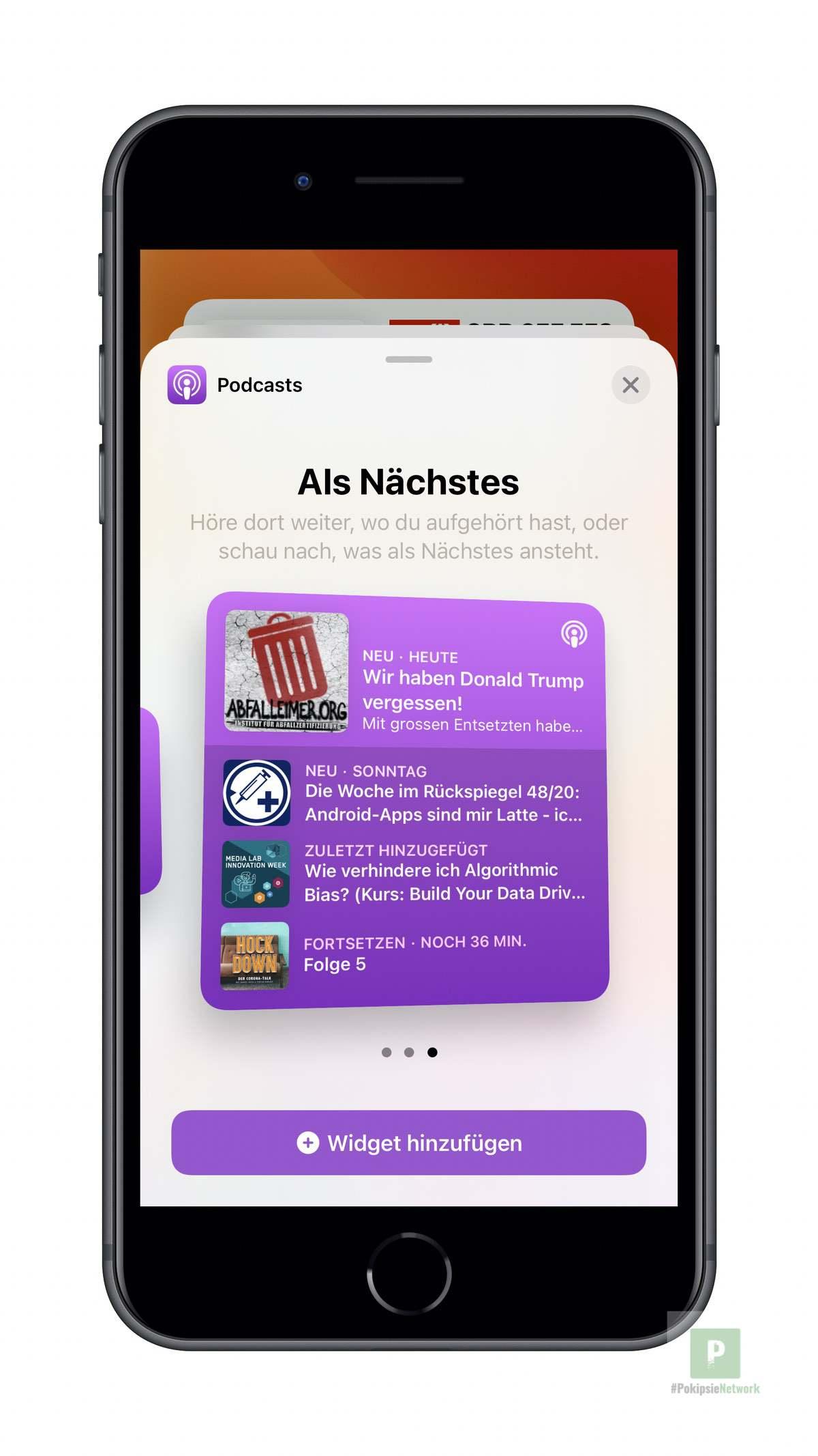 Apple Podcasts - Widgets aussuchen gross