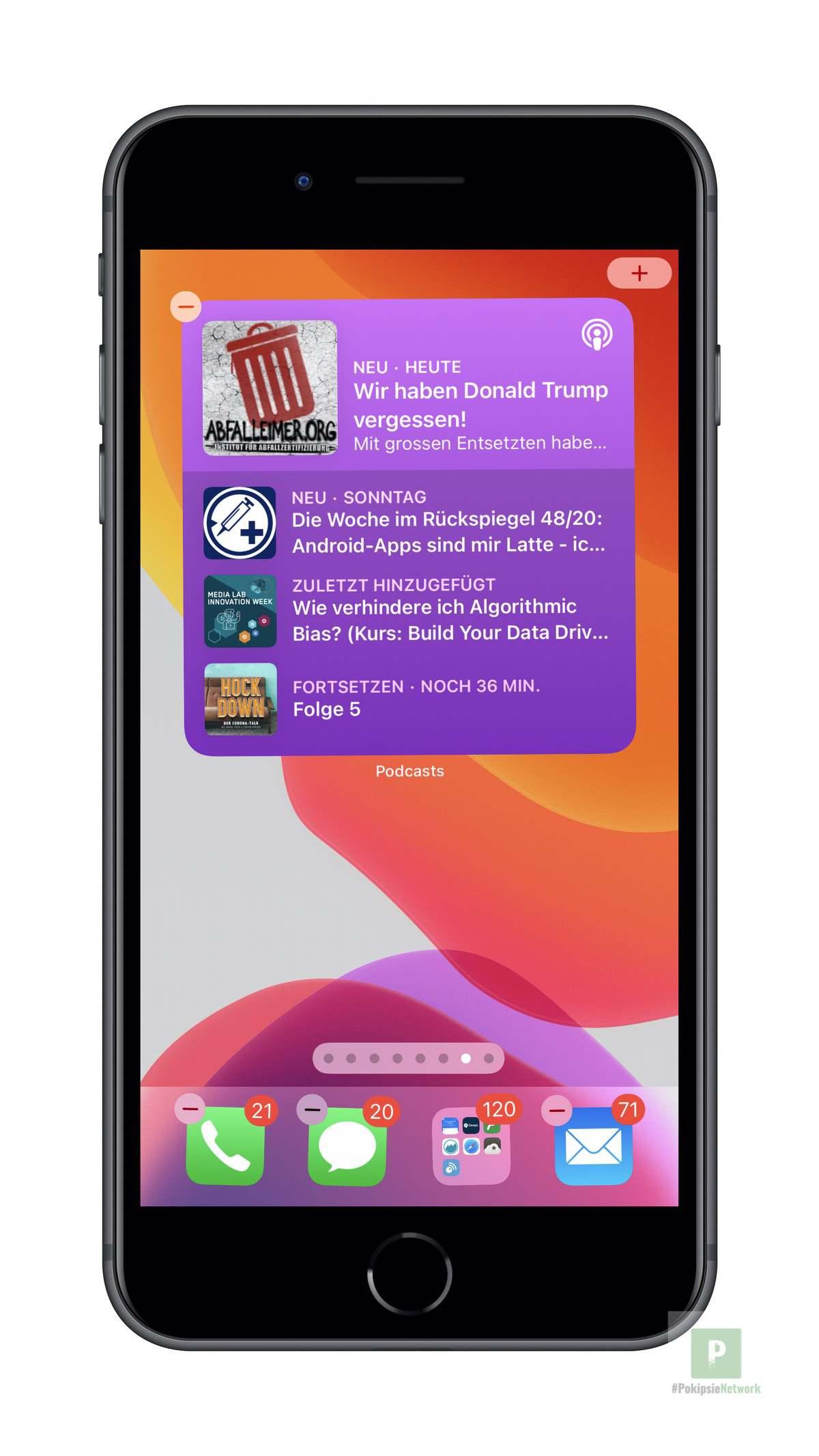 Apple Podcasts - iOS Widget Gross
