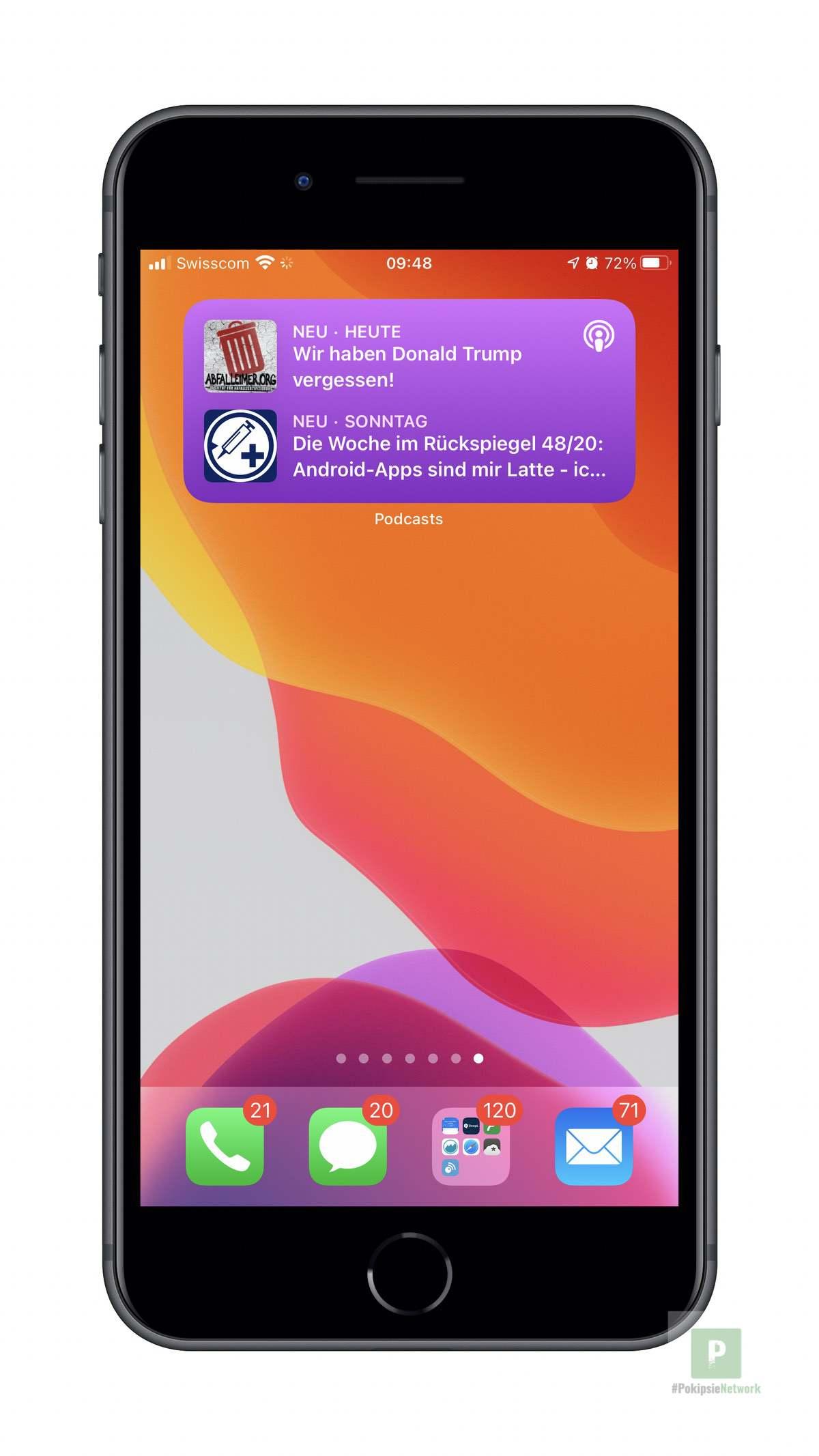 Apple Podcasts - iOS Widget Mittel