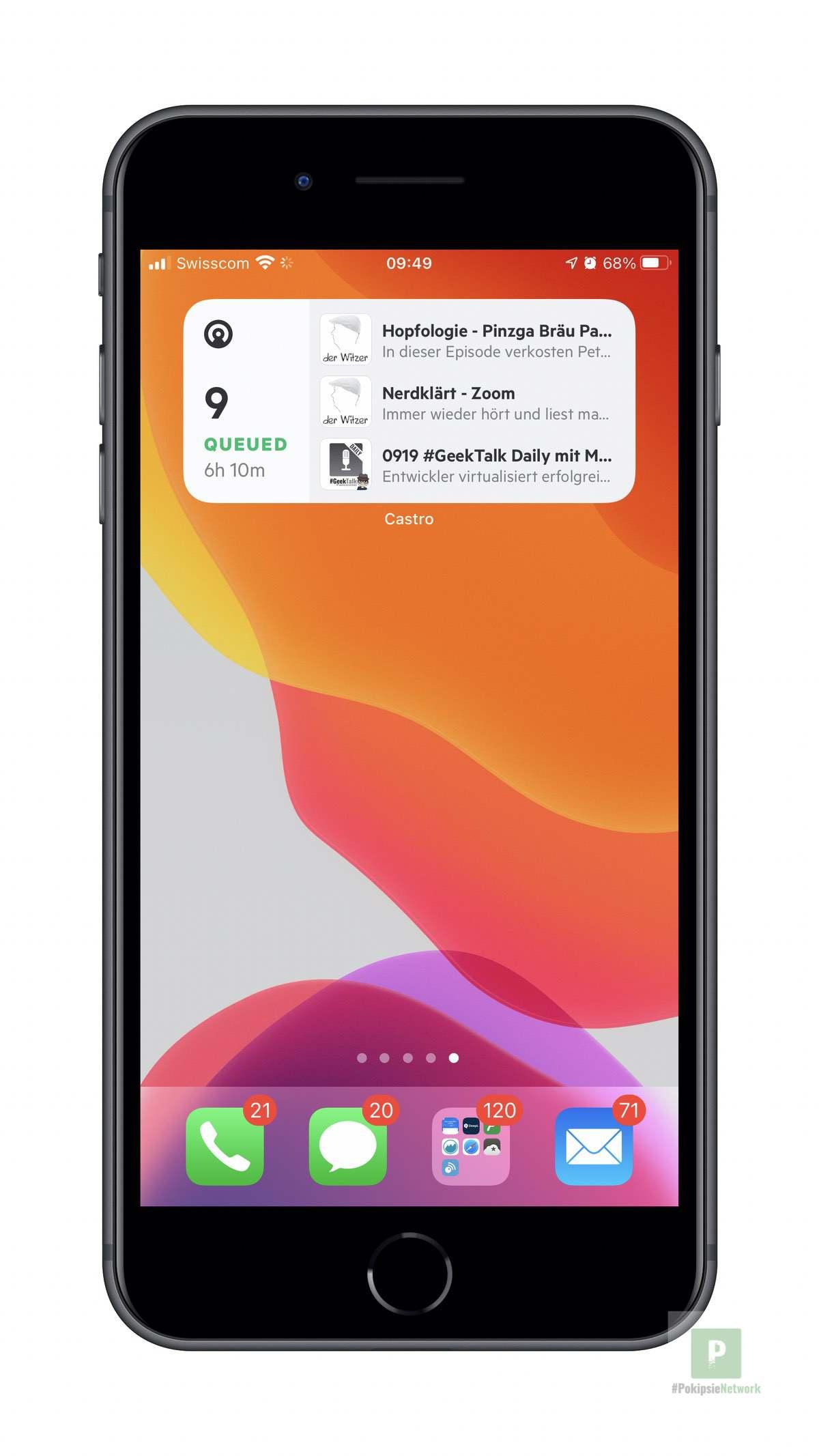 Castro - iOS Widget Mittel