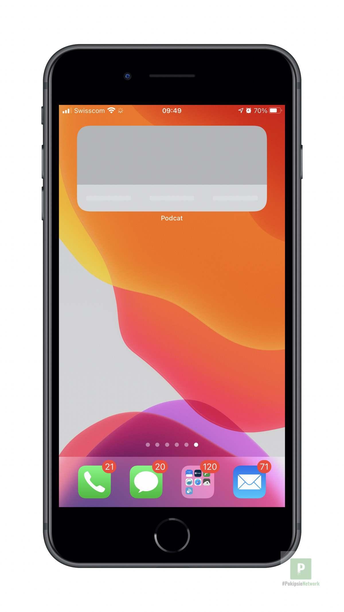 Podcat - iOS Widget Mittel