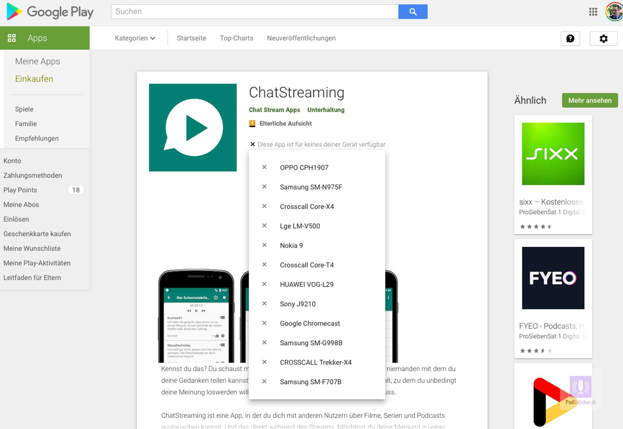 Chatstreaming bündelt die Kommentare von Podcast hörenden