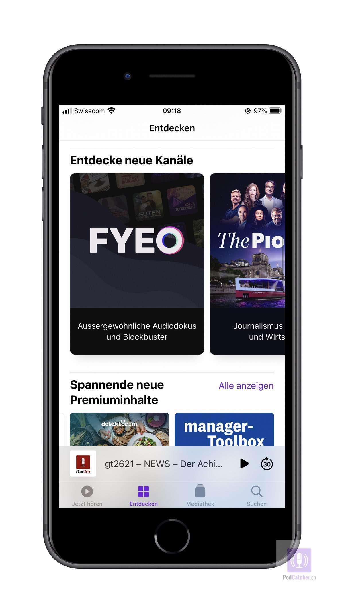Apple Podcasts Abonnements ab sofort online