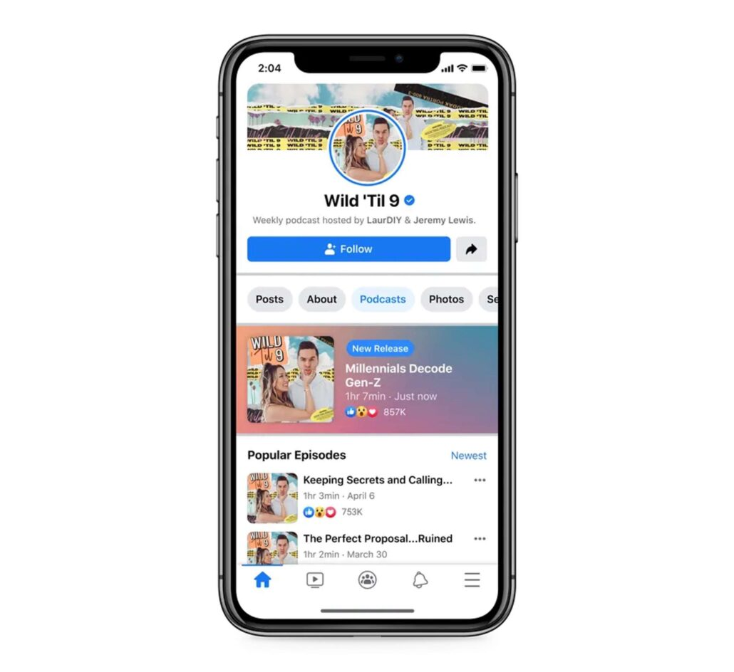 Facebook Podcast Plattform