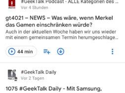 Kleine Neuerungen an Google Podcasts für Android