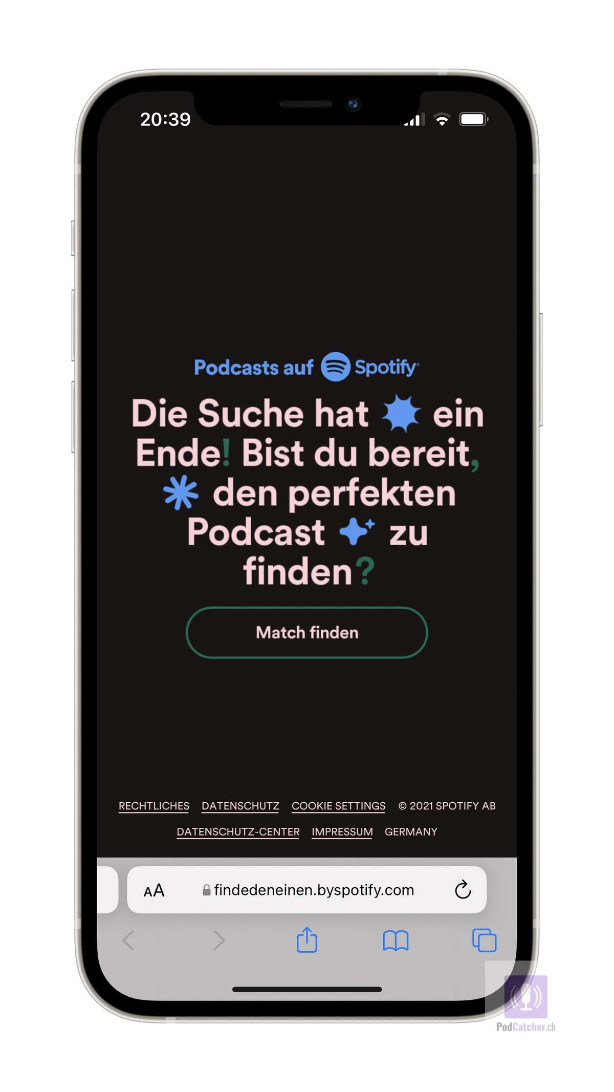 Spotify «Finde den Einen» Funktion